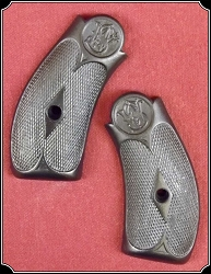 Hard rubber grips for S&W New Model No. 3 SINGLE ACTION and all the reproductions. RJT#4584