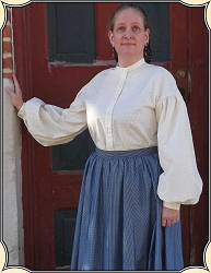 Blouse - Civil War Camp Blouse Tan Calico Heirloom Brand