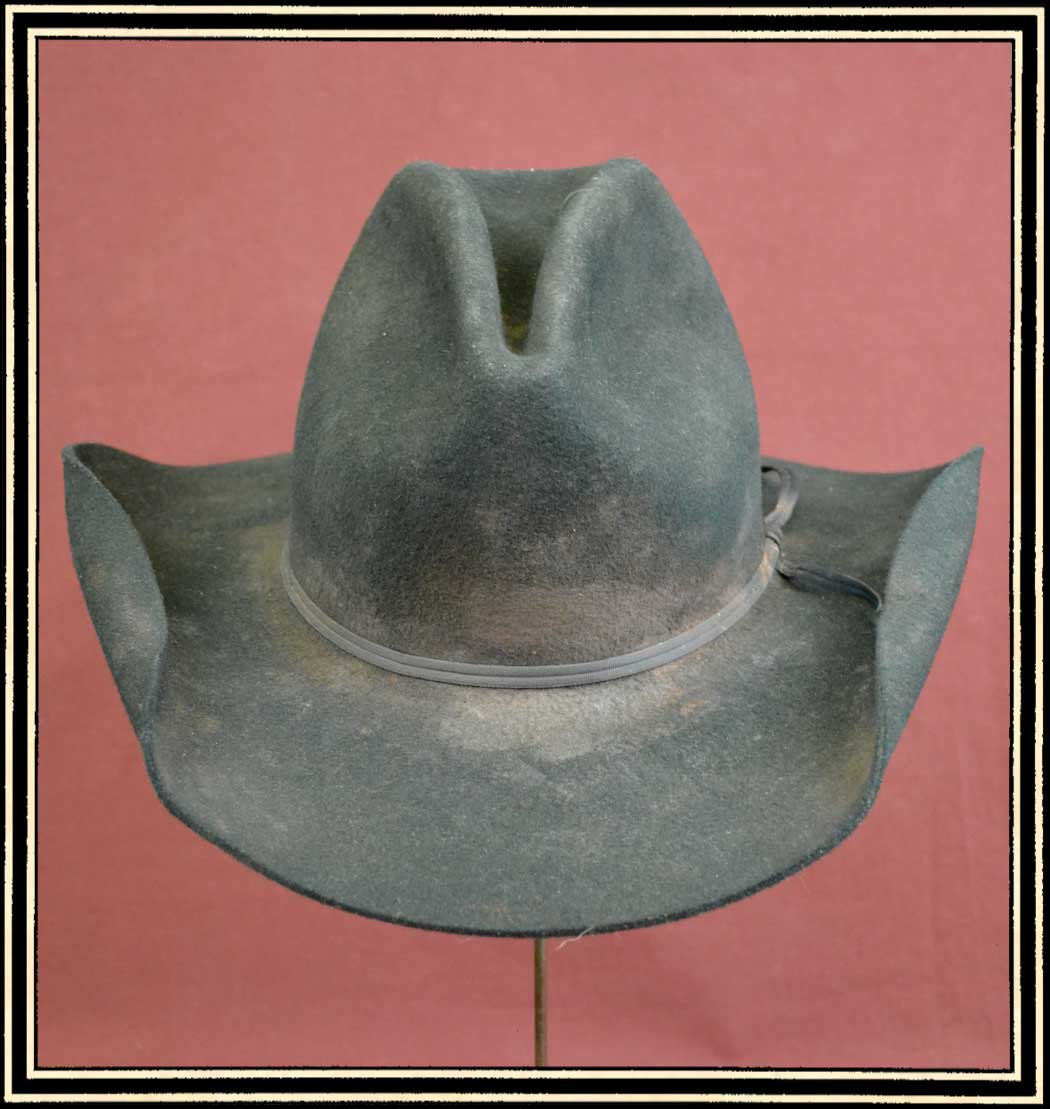 Z Sold - Close Out Hat - quality wool felt hat size 7 3/8 - Distressed  Level 2