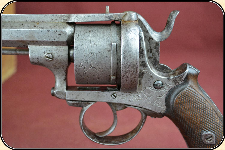 Civil War Pin Fire August Francotte 12MM Antqiue Revolver