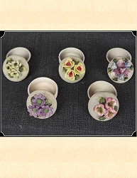 Floral Porcelain Boxes with Lids