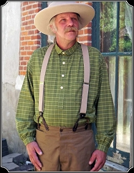 Shirt - Old West Frontier Green Plaid Heirloom Brand