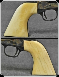 Grips ~ Hand made and hand fit to your gun Bone one piece Grips RJT#4764
