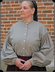 Blouse - Work Blouse Grey Pattern for Civil War