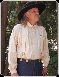 Shirt - Frontier Old West Cream with Red Calico