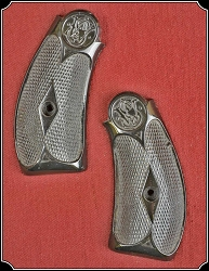 Hard rubber grips for S&W New Model No. 3, .44 CAL.  DOUBLE ACTION RJT#4803