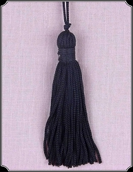 Trim ~ Black 3 Inch 60 End Chainette Tassels 6 Pack