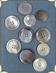 Buttons ~ Large Pearl Coat Buttons