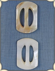 Buttons ~ Mother of Pearl Sliding Buckles Pack of Two