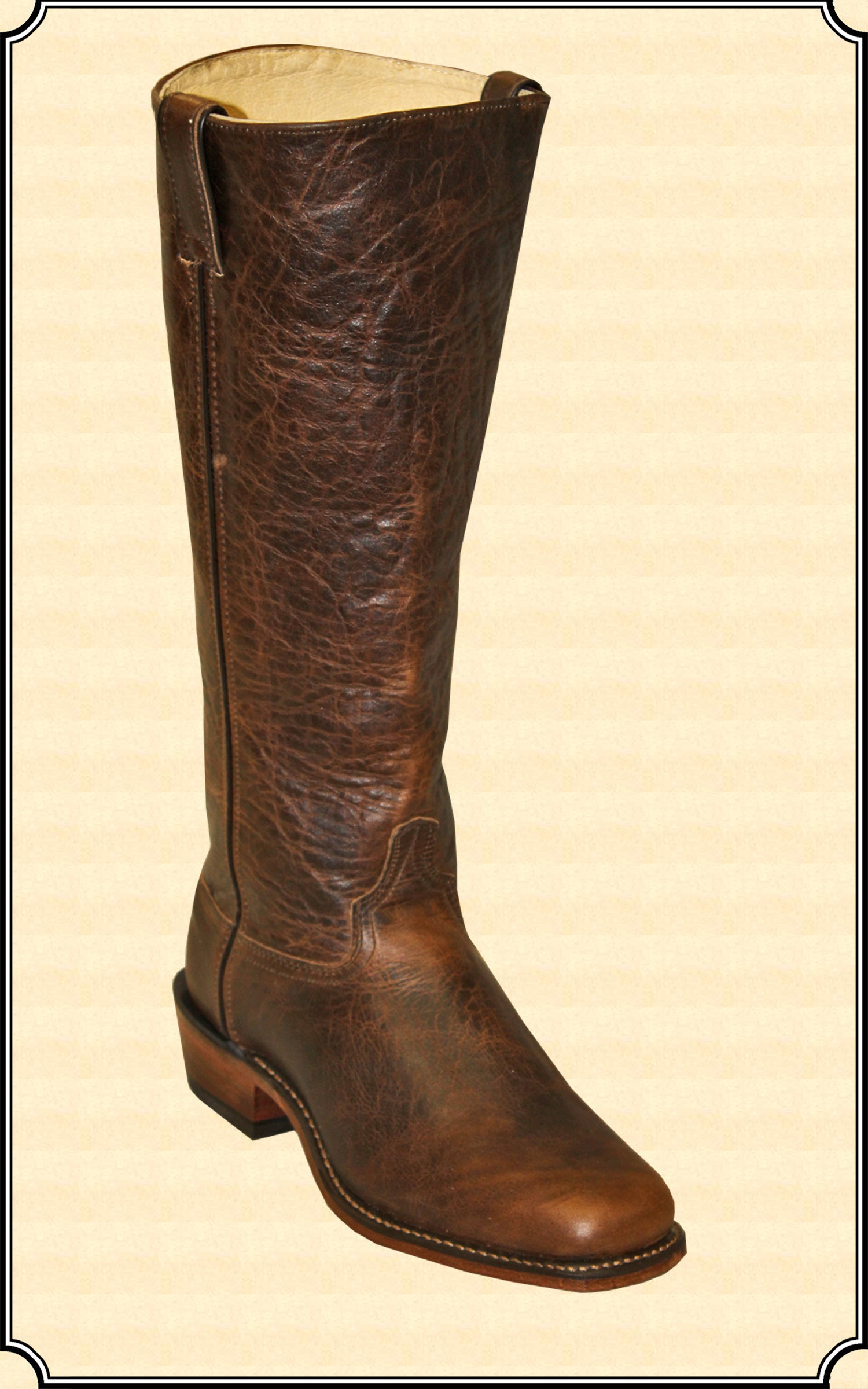 Waddie Old West Boot In Brown