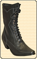 Ladies Black Victorian Lace up