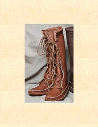 Ladies Knee High Cowhide Boots Saddle