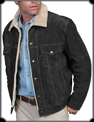 Denim Style Boar Suede Jacket By Scully
