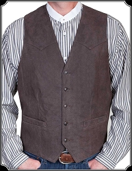 Classic Cowboy Style Leather Vest From Scully
