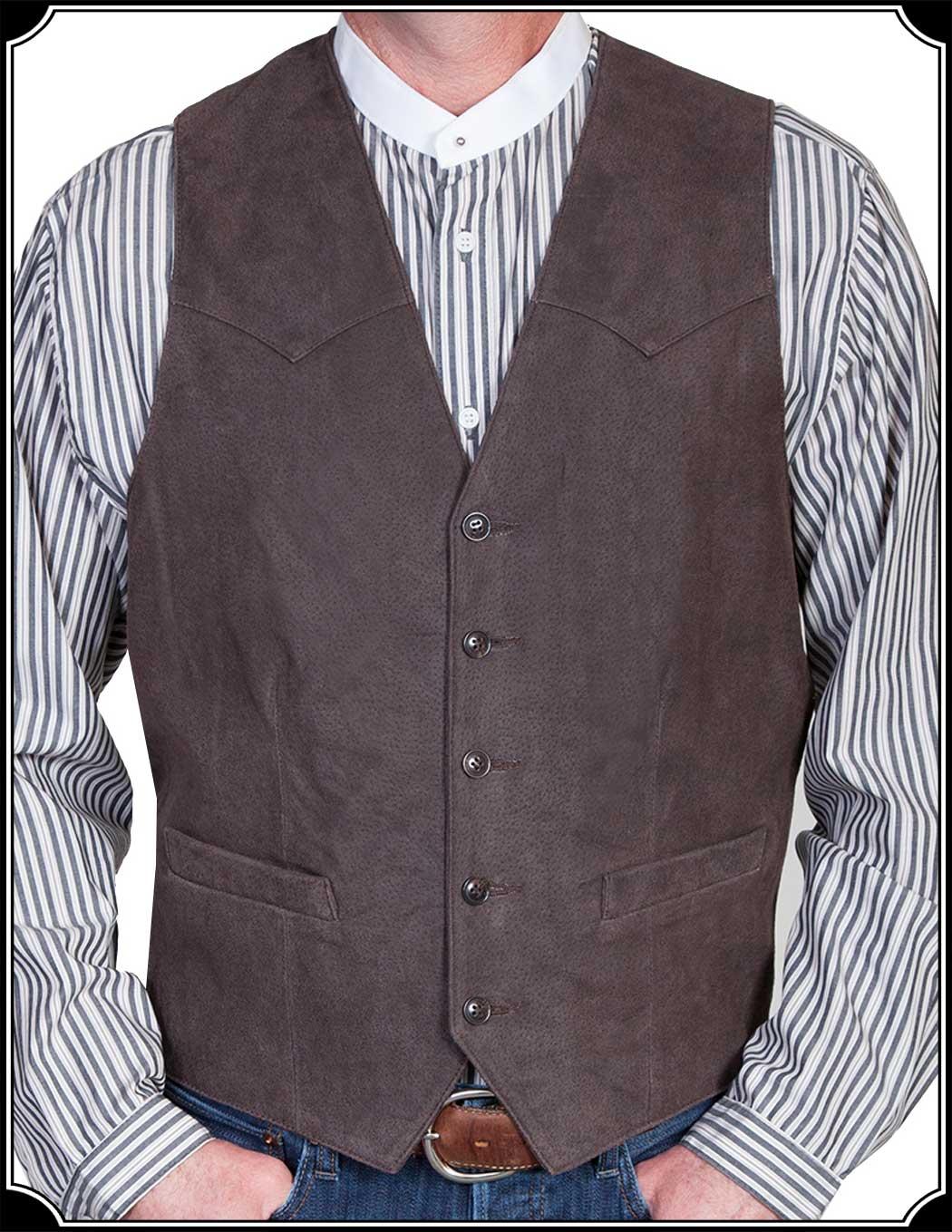 Old West Riverboat Gambler Vest Brocade Heirloom Brand