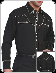 Shirt - Classic Style Snap Front Western Shirt From Scully