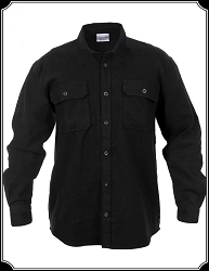 Shirt - Black Flannel Heavy Weight Shirt