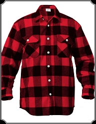 Shirt - Buffalo Plaid Flannel Heavy Weight Shirt Red
