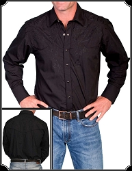 Shirt - Scully Rodeo Cowboy Embroidered Shirt