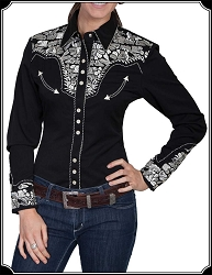 Ladies Rodeo Shirt with Embroidery From Scully