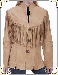 Old West Inspired Suede Fringe Jacket From Scully