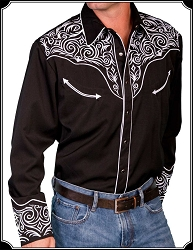 Shirt - Western Rodeo Style Tribal Shirt from Scully
