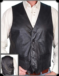 Mens Leather Western Vest from Scully