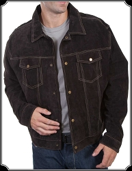 Denim Style Suede Jacket by Scully
