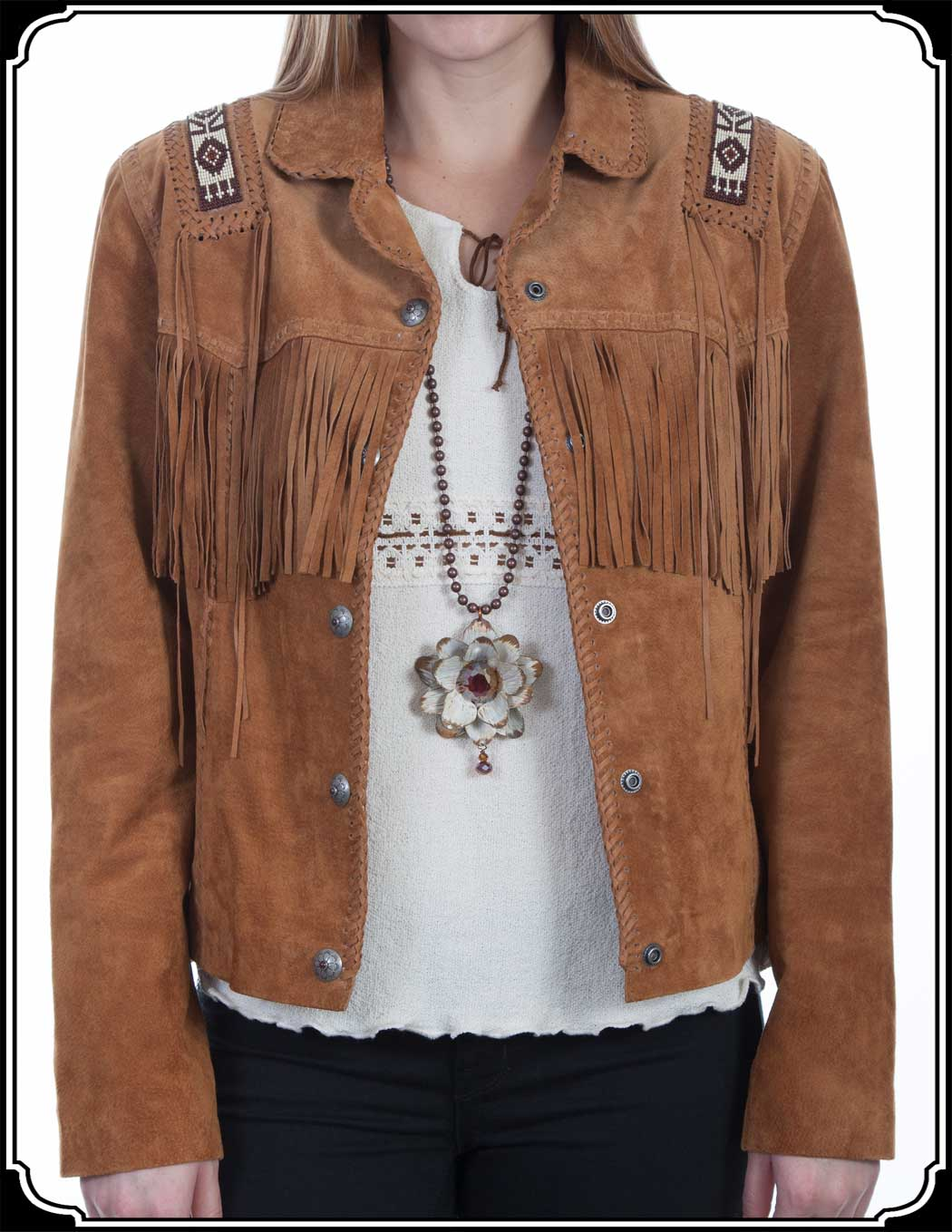 Ladies Scully Suede Old West Jacket