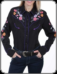 Embroidered Spring Flower Rodeo Shirt ~ Scully