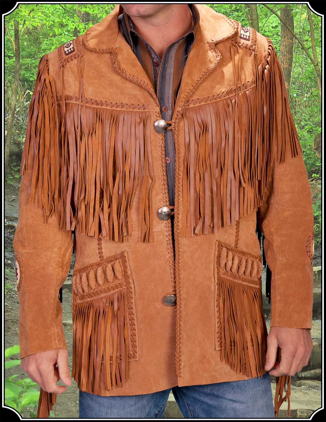 876ff9919 Mens Fringe Suede Jacket from Scully