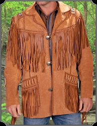 Mens Fringe Suede Jacket from Scully