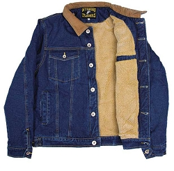 Fleece Lined Denim Jacket