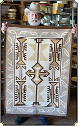 z Sold Two Grey Hills Navajo Rug Blanket