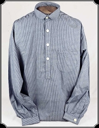 Shirt - Navy Stripe Old West Frontier