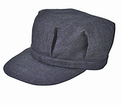 Men's Dark Blue Denim Railroad Engineers Cap, Conductor cap, Farmers Cap