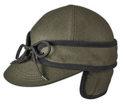 Men's Hat - Stormy Weather Forest Green Railroad Cap
