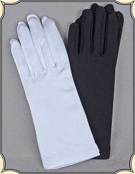 Gloves - Wrist Length Evening Gloves in Nylon