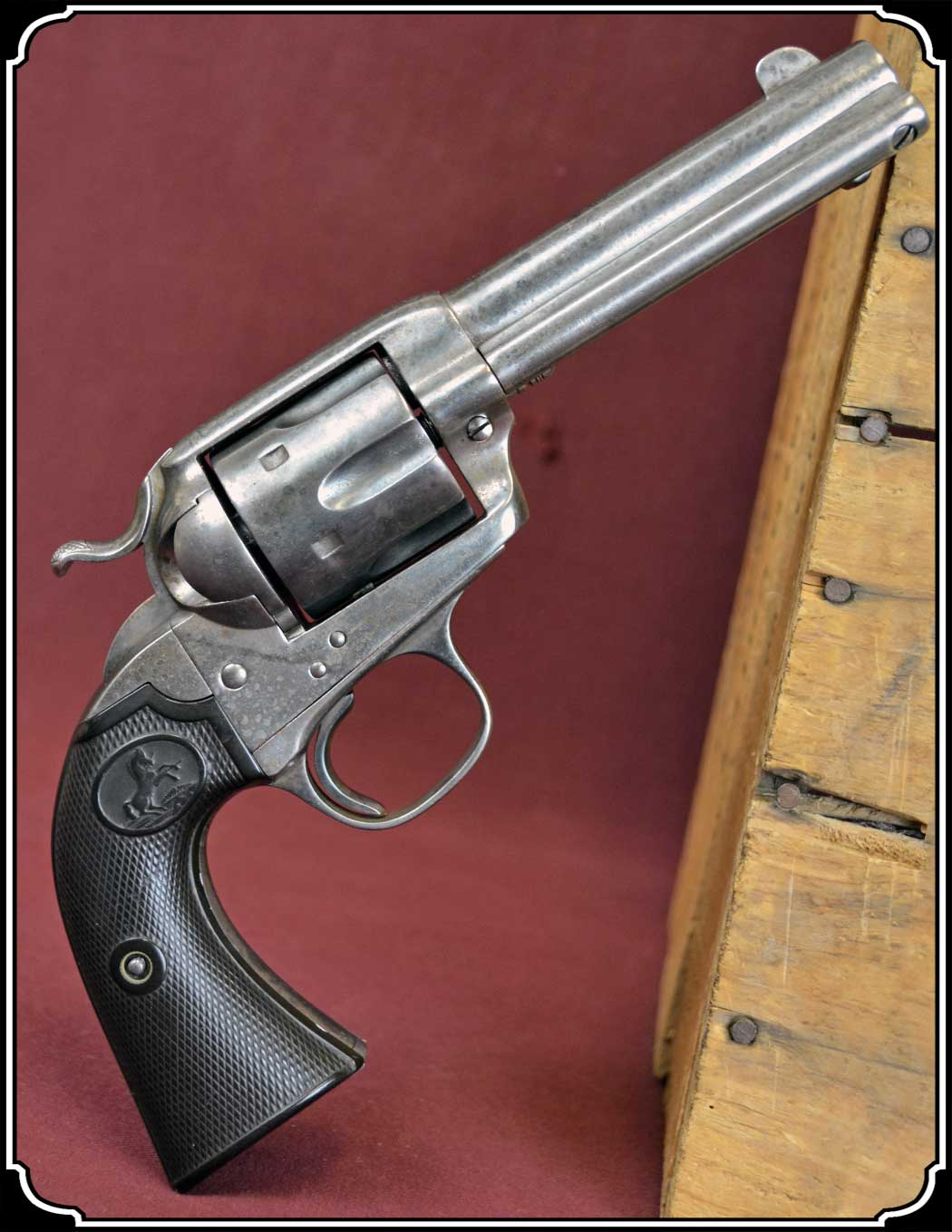 "z Sold Colt Bisley Frontier Six Shooter.44-40 cal., 4-3/4"" barrel"