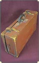 z Sold Vintage Big Leather Suitcase or Luggage