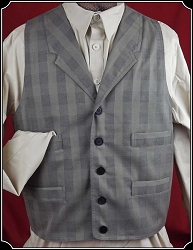 Carson Vest in Grey Plaid By Frontier Classics