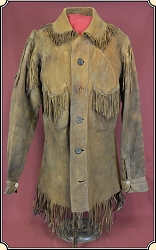 z Sold Museum Quality original Indian tanned Frontiersman Shirt.