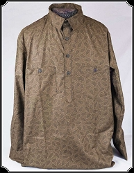 Shirt - Brown Paisley Cowboy Drover