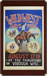 (Make Offer) Viroqua Wild West Show 1996 Print  11