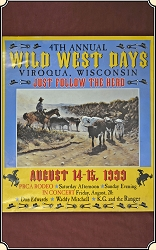 (Make Offer) Viroqua Wild West Show 1999 Print  21 x 24