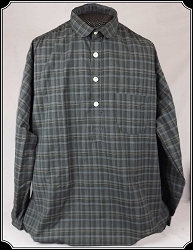 Shirt - Grey Plaid Old West Frontier