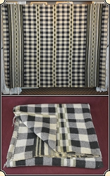 (Make Offer) Tan and Gray Plaid Horse Blanket 2 of 2