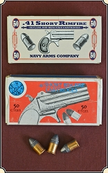Z  Sold .41 caliber Rim-fire ammo by Navy Arms 1 box of 50 rounds