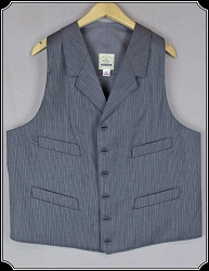 Vest - Grey Stripe Dress Wool Vest By Heirloom Brand