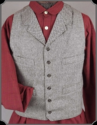 Vest - Brown Herringbone Heirloom Brand Vest